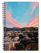 Sunset Over Uh Manoa Spiral Notebook