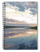 Sunset Over Union Bay Tall Panorama Spiral Notebook
