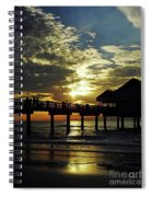 Sunset Pier Reflection Spiral Notebook