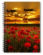 Sunset Poppies Fighter Command Spiral Notebook