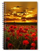 Sunset Poppies The Bbmf Spiral Notebook