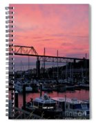 Sunset Port Spiral Notebook