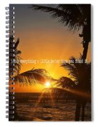 Sunset Quote Spiral Notebook