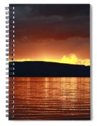 Sunset Red Spiral Notebook