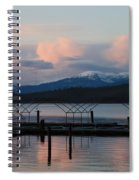 Sunset Reflecting Off Priest Lake Spiral Notebook