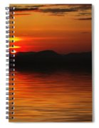Sunset Reflection On The Lake Spiral Notebook