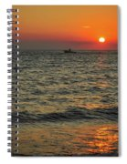 Sunset Ride Cape May Point Nj Spiral Notebook