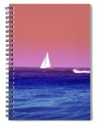 Sunset Sailboat Spiral Notebook
