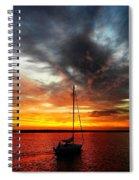 Sunset Sailboat Spiral Notebook