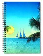 Sunset Sailor Spiral Notebook