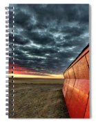 Sunset Saskatchewan Canada Spiral Notebook