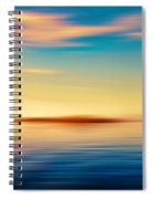 Sunset Seascape Island Spiral Notebook