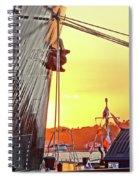 Sunset Ship Spiral Notebook