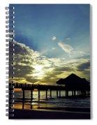 Sunset Silhouette Pier 60 Spiral Notebook