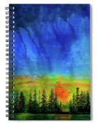 Sunset Silhouette With Canada Geese Spiral Notebook