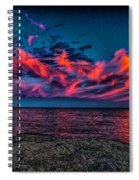 Sunset Sky At East Point Spiral Notebook