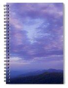 Sunset - Smoky Mountains  Spiral Notebook