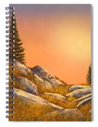 Sunset Spruces Spiral Notebook
