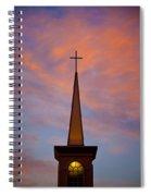 Sunset Steeple Spiral Notebook