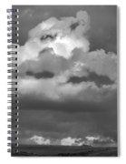 Sunset Storm  Clouds Spiral Notebook
