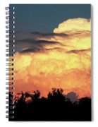 Sunset Storm Clouds Over The Marsh Spiral Notebook