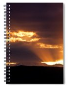Sunset Sunbeams Spiral Notebook