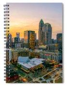 Sunset Sunrise Over Charlotte Skyline North Carolina Spiral Notebook