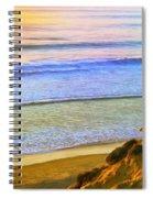 Sunset Surf At La Jolla Spiral Notebook