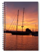 Sunset Tall Ships Spiral Notebook