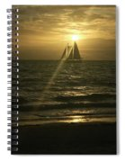 Sunset Through Sailboat Spiral Notebook