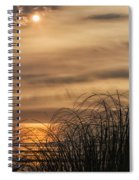 Sunset Through The Seagrass Spiral Notebook