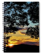 Sunset Through The Trees Spiral Notebook