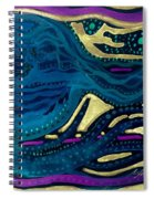Sunset To Moonset Reversed Spiral Notebook