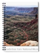 Sunset Tour Valley Of The Gods Utah Text 04 Spiral Notebook