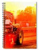 Sunset Tractor Pull Spiral Notebook