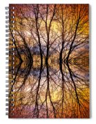 Sunset Tree Silhouette Abstract 1 Spiral Notebook