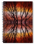 Sunset Tree Silhouette Abstract 2 Spiral Notebook