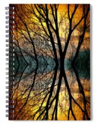 Sunset Tree Silhouette Abstract 3 Spiral Notebook