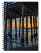Sunset Under The Ventura Pier Spiral Notebook