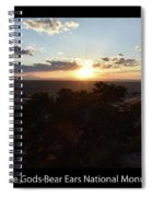 Sunset Valley Of The Gods Utah 01 Text Black Spiral Notebook