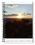 Sunset Valley Of The Gods Utah 01 Text Spiral Notebook