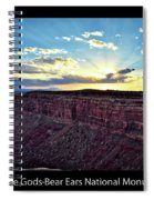 Sunset Valley Of The Gods Utah 03 Text Black Spiral Notebook