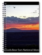 Sunset Valley Of The Gods Utah 05 Text Black Spiral Notebook