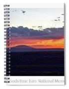 Sunset Valley Of The Gods Utah 05 Text Spiral Notebook