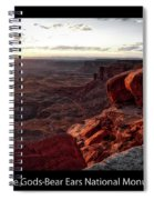 Sunset Valley Of The Gods Utah 09 Text Black Spiral Notebook