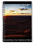 Sunset Valley Of The Gods Utah 11 Text Black Spiral Notebook