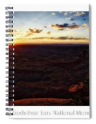 Sunset Valley Of The Gods Utah 11 Text Spiral Notebook