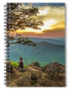 Sunset View At Ravens Roost Panorama Spiral Notebook