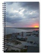 Sunset View From Sandy Neck Light Spiral Notebook