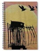 Sunset Wall Mural In Cedar Key, Fl Spiral Notebook
